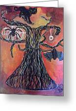 Halloween Tree Greeting Card
