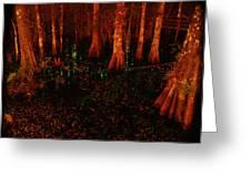 Halloween Woods Greeting Card