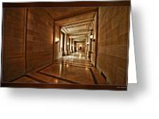 Hallway In City Hall Sf Greeting Card