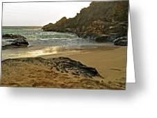Halona Beach Cove Greeting Card by Michael Peychich