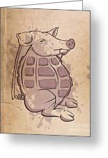 Ham-grenade Greeting Card