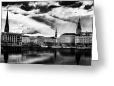 Hamburg At Sunset Greeting Card