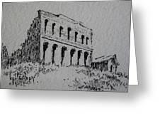 Hamilton Ghost Town Nevada Greeting Card