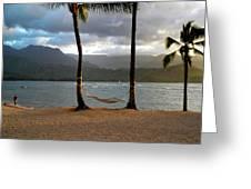 Hammock At Hanalei Bay Greeting Card