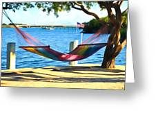 Hammock Time In The Keys Greeting Card