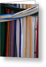 Hammocks In Colored Patterns Greeting Card