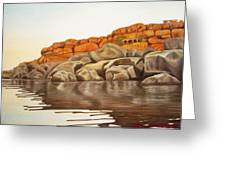 Hampi On Tungabadra Greeting Card