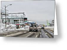 Hampton Beach Nh After The Storm Greeting Card