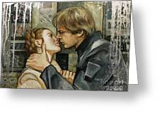 Han And Leia Greeting Card