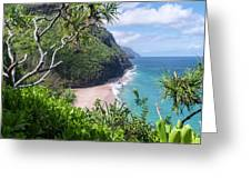 Hanakapiai Beach Greeting Card