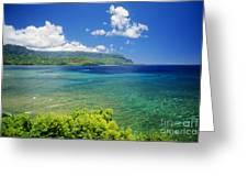 Hanalei Bay And Bali Hai Greeting Card