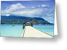 Hanalei Bay And Pier Greeting Card