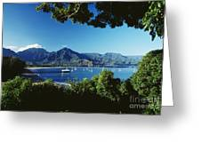 Hanalei Bay Boats Greeting Card