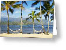 Hanalei Bay, Hammock Greeting Card