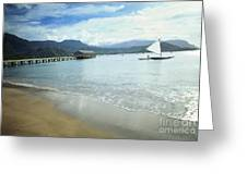 Hanalei Bay Outrigger Greeting Card