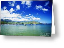Hanalei Bay With Pier Greeting Card