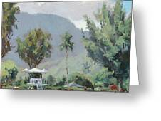 Hanalei Tower Greeting Card