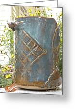 Hand Built Vessel- Wine Cooler Greeting Card by Christine Belt