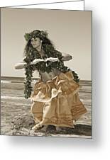 Hand Colored Hula Greeting Card
