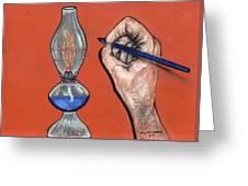 Hand Drawing Lamp Greeting Card
