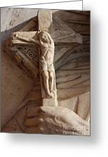 Hand Holding Crucifix In Venice Greeting Card