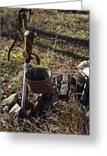 Hand Pump In The Fall Greeting Card