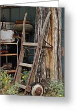 Hand Truck Of The Past Greeting Card