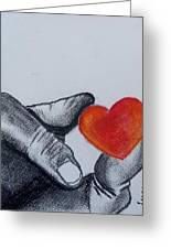 Hand With Heart Greeting Card