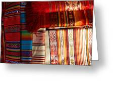 Hand Woven Table Cloths Greeting Card