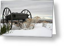 Handcart Monument Greeting Card