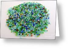 Handful Of Sea Glass Greeting Card