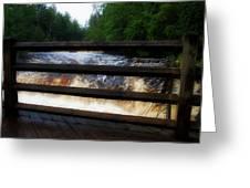 Handrails Tahquamenon Lower Falls Upper Peninsula Michigan 02 Greeting Card