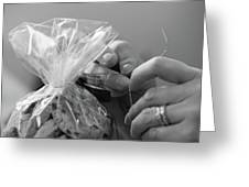 Hands Creating. Greeting Card