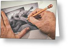 Hands Drawing Hands Greeting Card