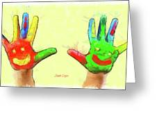 Hands In Art Greeting Card