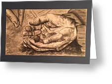 Hands Of Poverty Greeting Card