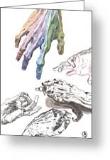 Hands Of The Masters Greeting Card