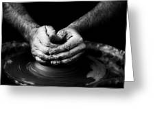 Hands That Form Greeting Card