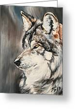 Handsome Wolf Greeting Card