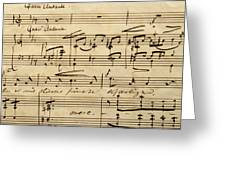 Handwritten Score For Hjertets Melodier, Opus 5 Greeting Card