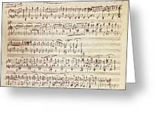 Handwritten Score For Waltz For Piano, Opus 39 Greeting Card