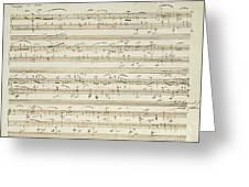 Handwritten Score For Waltz In Flat Major Greeting Card