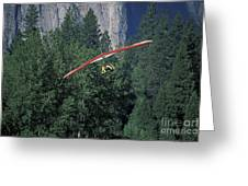 Hang Glider In Yosemite Greeting Card