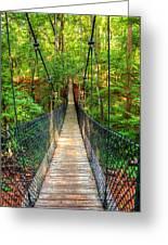 Hanging Bridge Greeting Card