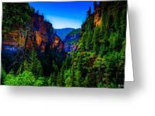 Hanging Lake Trail Greeting Card