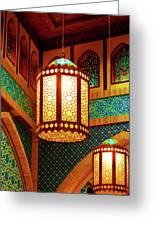 Hanging Lanterns Greeting Card by Farah Faizal