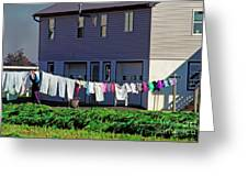 Hanging Laundry Greeting Card