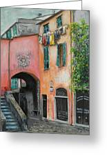 Hanging Out In Monterosso Al Mare Greeting Card