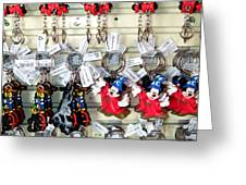 Hanging Out With Mickey And Minnie Greeting Card