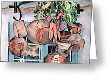 Hanging Pots And Pans Greeting Card